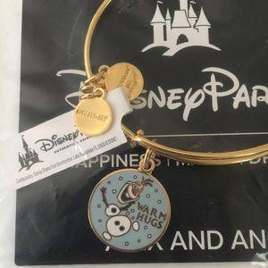 Olaf Warm Hugs Alex & Ani Disney Parks Bracelet